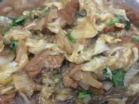 大白菜炒粉丝炒肉