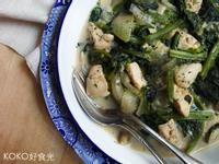 香料奶油菠菜燉雞胸