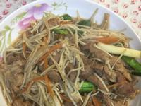 金針菇炒梅花肉絲