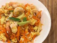 蝦仁炒紅蘿蔔蛋