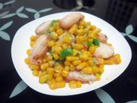 蟹肉炒玉米粒