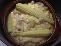 菇菇玉米筍蒸蛋