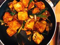 炒下飯的蔥煎雞蛋豆腐