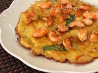 鮮蝦高麗菜煎餅