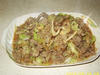 好菇道菇idea-日式蔬菜炒牛肉