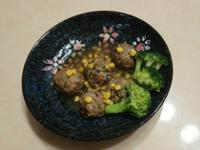三色香菇肉丸