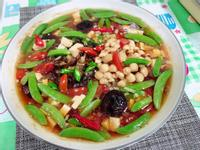 菇菇燴豆腐佐甜豆(水波爐料理)