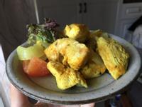 薑黃花生醬嫩雞