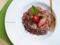 草莓燉飯佐巴薩米克醋