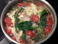 蕃茄豬肉片菠菜蛋花湯