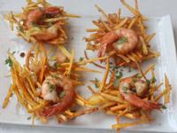 地瓜鮮蝦餅