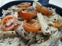 和風胡蔴凱撒醬炒蕃茄杏鮑菇  蔬食料理