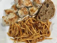高蛋白「雞胸遇上肉醬義大利麵」500卡