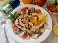 香草檸檬蒸鮭魚