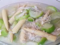 炒絲瓜玉米筍金針菇