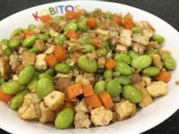 香炒毛豆&油豆腐