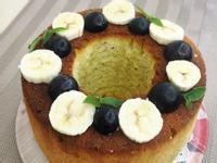 香蕉戚風蛋糕(燙麵法。低糖)