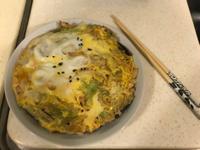滑蛋菇菇蔬食丼飯