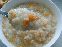古早味台式地瓜稀飯->冰涼地瓜米布丁