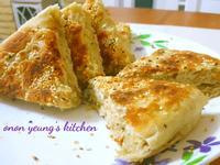 香蔥油酥厚燒餅 平底鍋烘烤做法。家常包點