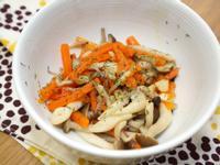 紅蘿蔔炒鮮菇。簡易便當菜