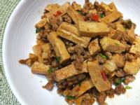 辣炒肉末百頁豆腐