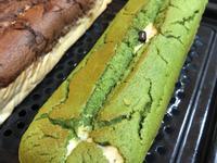 抹茶紅豆豆漿雙色天使蛋糕條