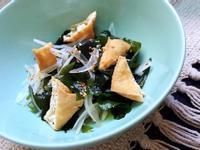 【低醣生酮】生揚豆腐佐洋蔥涼拌海帶芽
