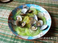 電鍋料理。絲瓜蛤蠣