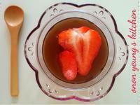夏日紅茶果凍 簡易。家常甜點