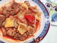泡菜甜椒炒雞腿肉