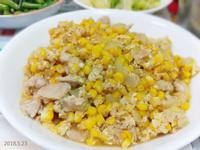 沙茶洋蔥玉米蛋炒肉絲
