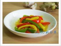 簡單無油煙料理-涼拌糖醋甜椒
