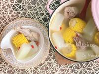 冬瓜玉米燉雞湯【鑄鐵鍋】