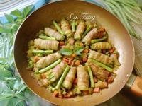 四季豆肉捲咖哩