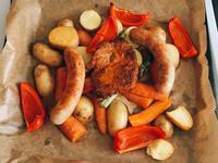 烤箱烤肉配時蔬