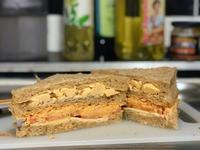 無油煙, 超懶人炒蛋,燻鮭魚起士三明治