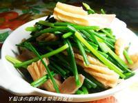 ㄚ曼達的廚房~韭菜花炒魷魚