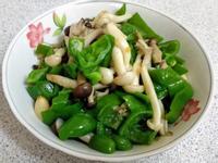 青椒炒雙菇