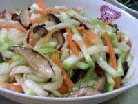 香菇炒胡瓜絲