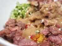 [寵物鮮食食譜]和風芝麻鹿肉沙拉,狗鮮食