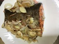 香烤蒜香洋蔥鮭魚~水波爐料理