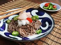 日式鱈魚肝蕎麥涼麵