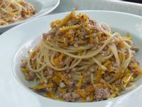 南瓜肉燥義大利麵 ~ 十分鐘快速家常料理
