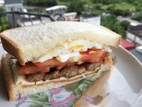 香煎豬肉花生醬起司三明治