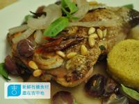 【吉刻美食】義式葡萄燉雞腿佐小米糕