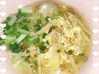 味噌筍絲蛋花麵