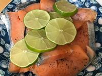 藍家小館-清蒸檸檬鮭魚
