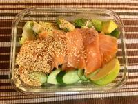 [生酮低醣餐]煙燻鮭魚酪梨芝麻沙拉