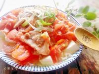 夏日好輕盈料理-蕃茄豆腐蒸里肌(電鍋)